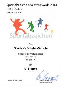 Sportabzeichen 2014 Urkunde